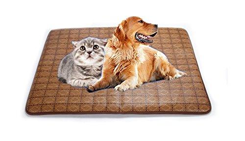 ishowstore Sommer Hund Katze Pet Cooling Pad Matte Cool Sleeping Bambus Bett