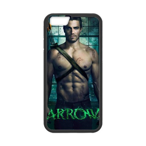 """Fayruz - iPhone 6 Rubber Cases, Green Arrow Hard Phone Cover for iPhone 6 4.7"""" F-i5G549"""