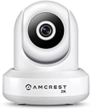Amcrest UltraHD 2K (3MP/2304TVL) WiFi Video Security IP Camera with Pan/Tilt, Dual Band 5ghz/2.4ghz, Two-Way A