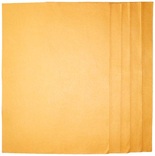 - Original 20X27 inches Orange Super Absorbent German Shammy Cloths for All Kinds of Cleaning, 260 grams, 100% Viscose, Commercial Grade (Pack of 5)
