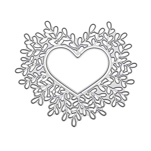 Frame Stencil (Peuriy Cutting Dies Heart Frame Shape Stencil in Embossing Machine for Crafter's Card Making)