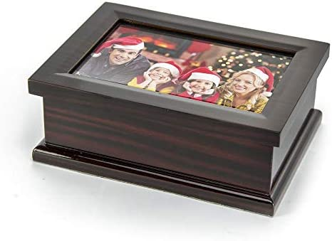 Sophisticated Modern 4 X 6 Photo Frame Musical Jewelry Box – Choose Your Song