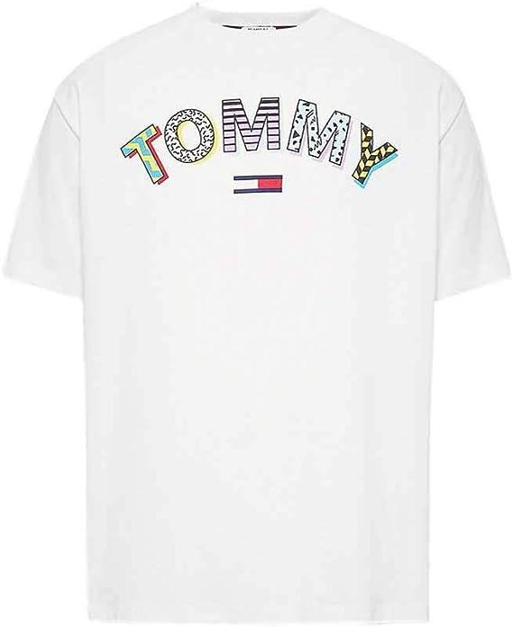 Tommy Jeans Camiseta Retro Geo Blanco Hombre XS Blanco: Amazon.es: Ropa y accesorios