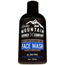 Face Wash For Men - Canadian Made - Non-Irritating Sensitive Hydrating Unscented Formula for All Skin Types - Paraben & SLS Free with Jojoba Oil, Argan Oil, Chamomile Floral water, Aloe Vera for a Clog-Free Cleanse