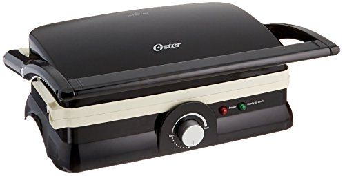 Oster Titanium-Infused DuraCeramic 2-in-1 Panini Maker and