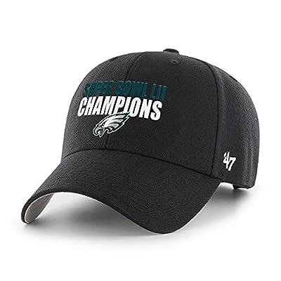 '47 Philadelphia Eagles NFL Super Bowl LII 52 Black MVP Hat Cap Adult Men's Adjustable by 47
