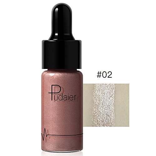 Doinshop Highlighter Liquid Make Up 12 Colors Concealer Shimmer Face Glow Cream (B)