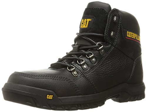 Caterpillar Mens Outline Steel Toe Work Boot Black