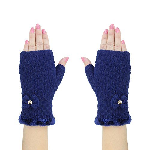 cobalt-blue-soft-knit-fingerless-cuff-gloves-w-cute-bow-cozy-chenille-lining