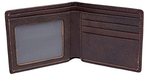 Mens Slim Bifold Wallet RFID Vintage Genuine Leather Thin Front Pocket Wallet