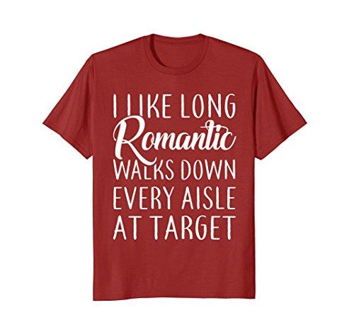 Mens I Like Long Romantic Walks Down Every Aisle At Target TShirt 3XL - Target Men For