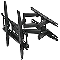 Leedford TV Wall Mount Bracket 20-55 inch MAX VESA 15.75x15.75 Extension Black,LED LCD Plasma HDTVs,Load Capacity 110lbs