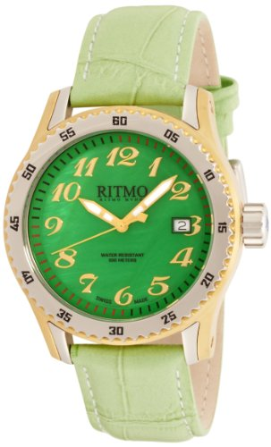 Ritmo Mundo Women's 233 YG Green MOP Extreme Quartz Mother-Of-Pearl Dial Watch by Ritmo Mundo