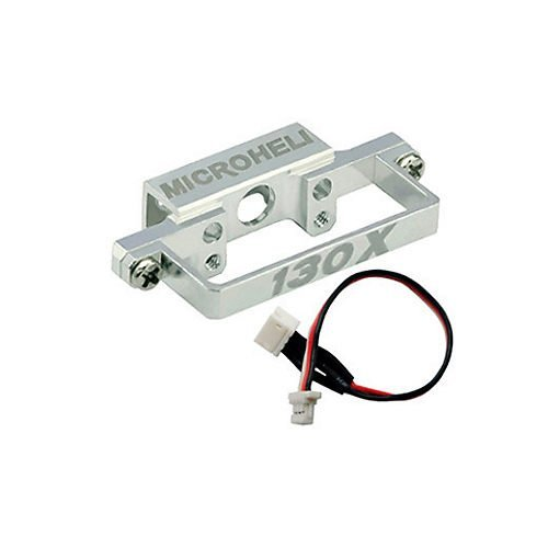 (Aluminum DS35 Tail Servo Mount w/Cable: Blade 130X)