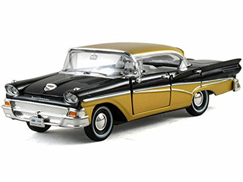 Toy Fairlane - 1958 Ford Fairlane Town Victoria Hard Top, Black - Arko 05861 - 1/32 Scale Diecast Model Toy Car
