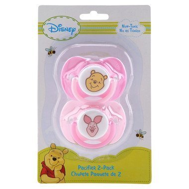 Disney Pacifier Infant (Disney Baby Pacifier 2 Pack Winnie the Pooh - Girls)