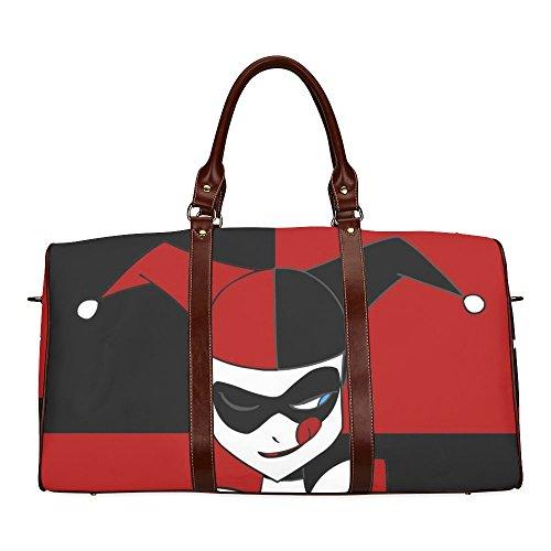 Harley Quinn Custom Waterproof fabric Two-sided Printing Large Duffle Sports/Travel Bag