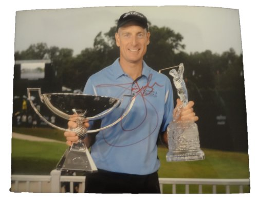 Jim Furyk Autographed PGA 11x14 W/PROOF, Picture of Jim Signing For Us, Masters Championship, PGA Championship, US Open Championship, The Open Championship, PGA Tour, Golf, 2010 PGA Player of The ()