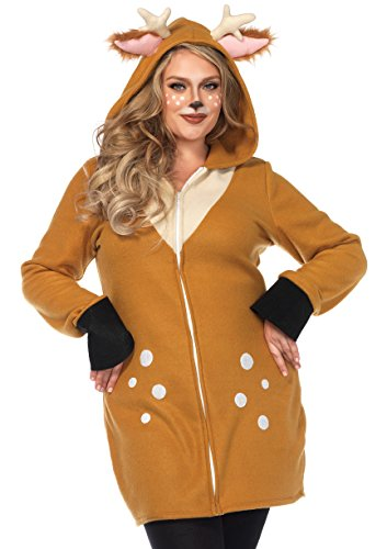 Leg Avenue Size Womens Plus Fawn Halloween Costume, Brown, 3X-4X]()