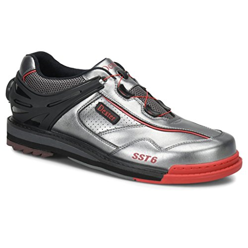 - Dexter Mens SST 6 Hybrid Boa Bowling Shoes Right Hand- Grey/Black/Red, 11