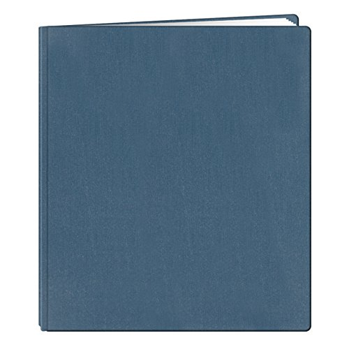 (Pioneer 12 Inch by 15 Inch Postbound Family Treasures Deluxe Fabric Cover Memory Book, Seabreeze Blue)