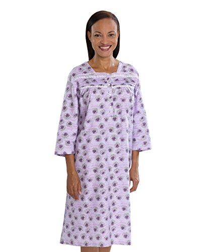 ladies 100 cotton dressing gowns - 3