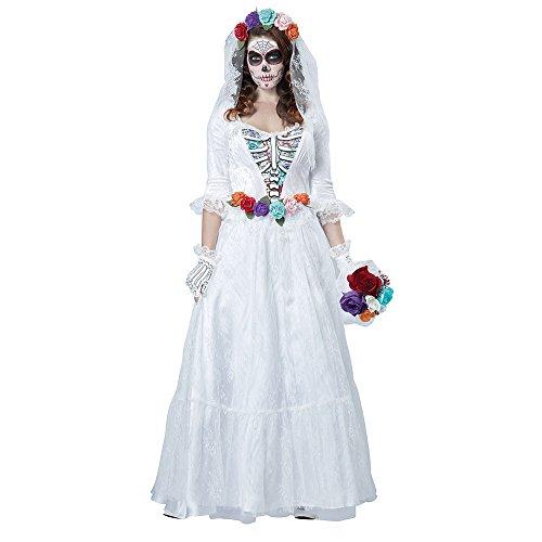 California Costumes Women's La Novia Muerta Costume, Multi, (Halloween Costumes 2016 Day Of The Dead)