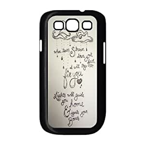 DIY Coldplay Lyrics S3 Cover Case, Coldplay Lyrics Personalized Phone Case for Samsung Galaxy S3 I9300 at Lzzcase