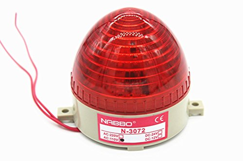 Nxtop AC 110V Red LED Warning Light Bulb Signal Tower Lamp N-3072 Steady Flash by Nxtop