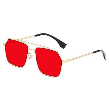 Z&HA Gafas de Sol hexagonales para Las Mujeres-Doble Puente ...