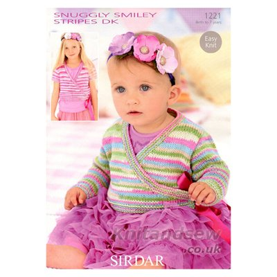 Easy Knit Ballet Cardigans in Snuggly Smiley Stripes DK - Sirdar Knitting Pattern 1221