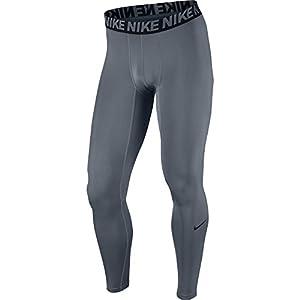 NIKE Men's Base Layer Training Tights, Cool Grey/Black/Black, Large