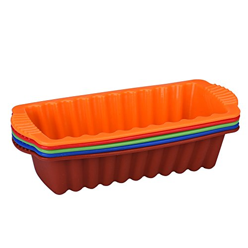 Onefa Silicone Rectangle Non Stick Bread Loaf Cake Mold Bakeware Baking Pan Oven Mould Tool Kitchen Tool Baking Tool for Home Kitchen -