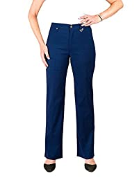 Simon Chang *Petite 5 Pocket Straight Leg Microtwill Pant Style#3-5302P