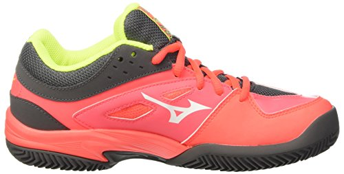 Mizuno w Scarpe safetyyellow Cc white Shot Donna Ex Tennis fierycoral Multicolore Da Break XwBqIrX