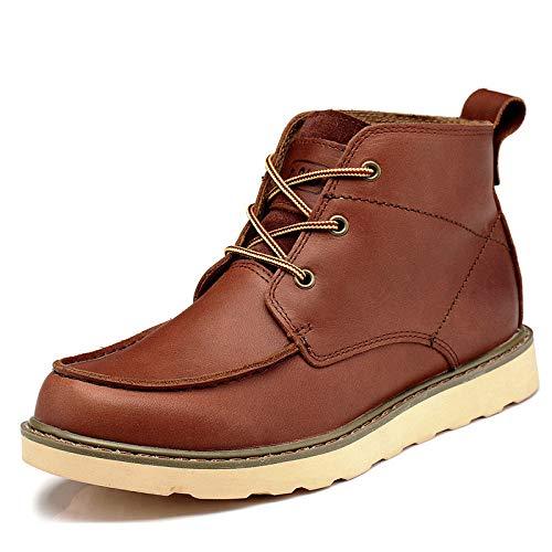 De Cuero Al Invierno Botas Para Aire Antideslizantes brown Libre Martín Hombre Herramientas Otoño Zapatos E 41 reddish 4UxxBfIwq