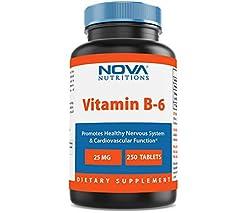 Vitamin B6 25 mg 250 Tablets by Nova Nut...