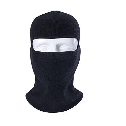 Brave Tour Ski Mask Face Mask Cycling Hiking Neck Warmer Mask (Black) (Anonymous Paintball Mask)