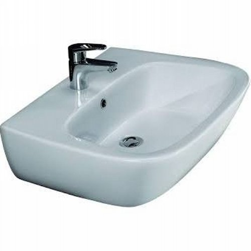 Barclay Products Elena White 450 Wall-Hung Basin with One Faucet Hole by Barclay
