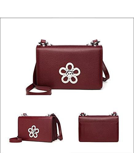 fête cuir sac Femmes décontractée en mode diagonal bandoulière paquet Winered à sac de exquis 0w0xUIqpz6