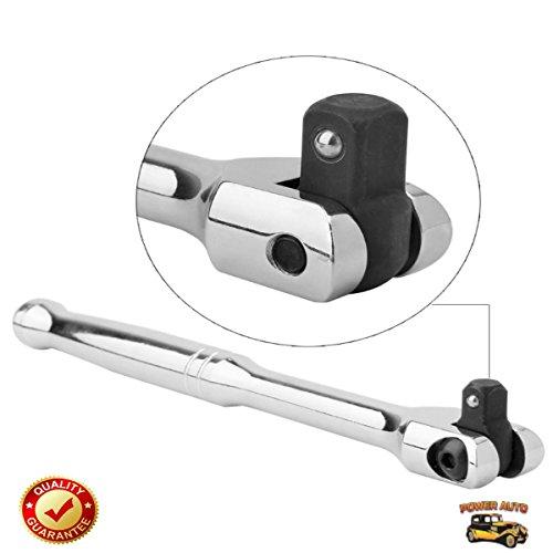 EXCLUSIVE 1/2 Inch Drive Premium Breaker Bar, 18 inch Long PLUS Impact Adapter & Reducer Set (5pc) - Power Auto Packaged Combo Set [Bundle: 1/2 Breaker Bar Torque Wrench & 5pc Impact Reducer/Adpator] by Power Auto (Image #1)