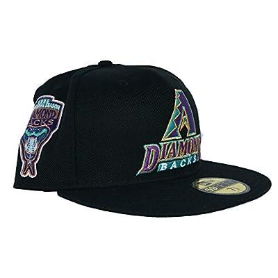 New Era 59Fifty Arizona Diamondbacks 1998 Inaug Sidepatch Grey Bottom Fitted In Black