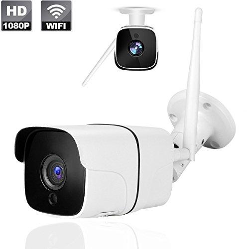 Cámara de seguridad inalámbrica para exterior / interior IP66 impermeable de HD 1080P WiFi Cámara IP con visión nocturna...