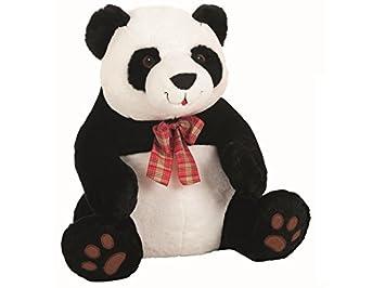 Peluche Oso Panda Lazo Cuadros 45 cm Llopis
