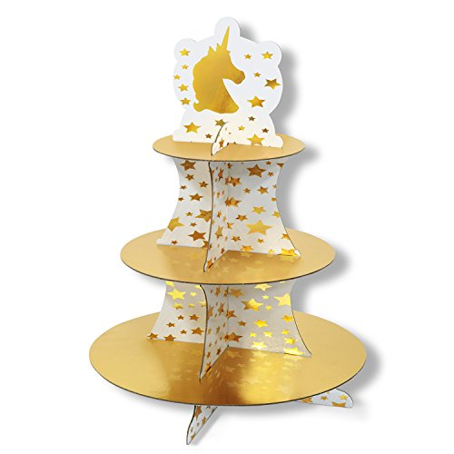 Beistle Unicorn Cupcake Stand | Theme Birthday Party Supplies (2-Pack)
