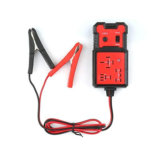 MongGood 12V Electronic Automotive Relay Tester with Alligator Clips for Cars Auto Battery Checker