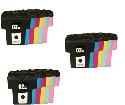 Cartridge Compatible 02 Cyan Ink (18 Pack - Toners & More ® Remanufactured Inkjet Cartridge Set for HP 02 02XL 02 XL H02XL H02, C8721W Black, C8771W Cyan, C8772W Magenta, C8773W Yellow, C8774W Light Cyan, C8775W Light Magenta, Compatible with HP Photosmart 8250, 3210, 3310, C5180, C6180, C7180, D7160, D7360, 3110, C6280, C7280, C5150, C8180, D7260, C7250, D7460, C5100, C5140, C5175, C5183, C5185, C5188, C5190, C6100, C6150, C6175, C6183, C6185, C6188, C6200, C6240, C6250, C6270, C6275, C6283, C6285, C6286, C6288, C7200, C7275, C7283, C7288, C8150, C8183, D6160, D7145, D7155, D7168, D7245, D7255, D7263, D7268, D7345, D7355, 3210v, 3210xi, 3310xi)