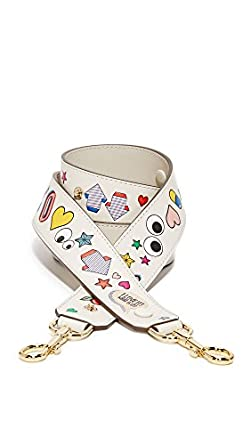 Anya Hindmarch Women's All Over Wink Shoulder Strap, Chalk, One Size