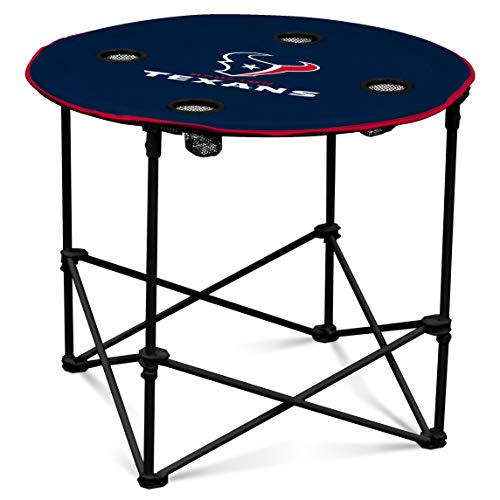 Houston Texans  Collapsible Round Table with 4 Cup Holders and Carry Bag