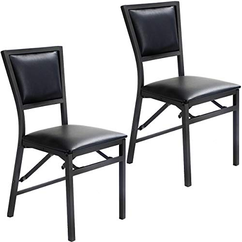 - Set of 2 Folding Dining Chair Metal Frame Home Restaurant Furniture Bistro Pub Chair